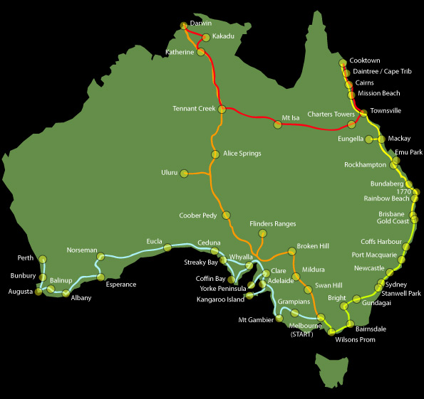 Our journey around australia