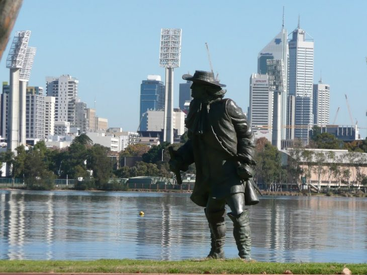 The view of Perth City from Burswood