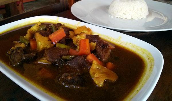 meal at Sjaki-Tari-Us in Ubud