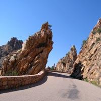Narrow Road in Corsica