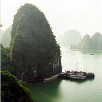 Halong Bay in the North of Vietnam