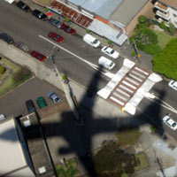 Shadow of a plane