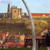 The Youth Hostel on top of the hill in Whitby, England
