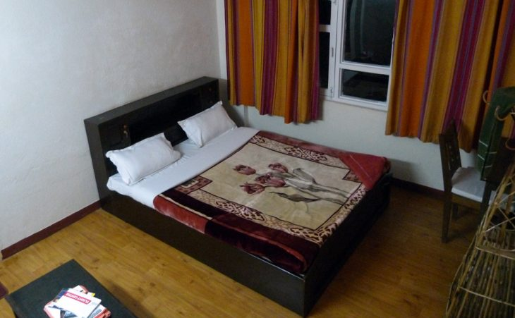 My bedroom for the first night in Kathmandu Nepal