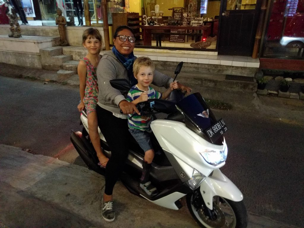 Hitching a ride in Ubud Bali