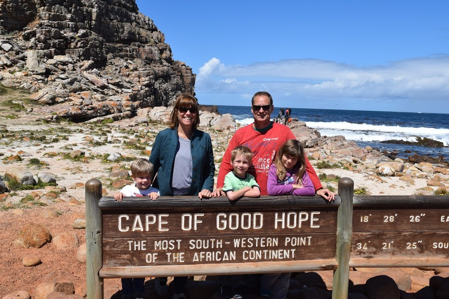 Where the two oceans don't meet, at the cape of good hope, near Cape Town in South Africa