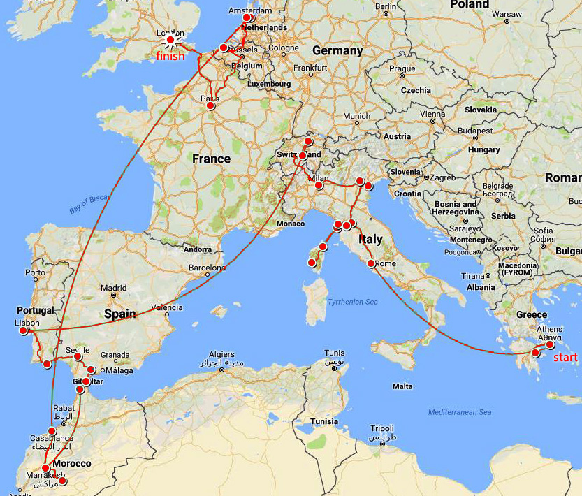 Europe route 2017