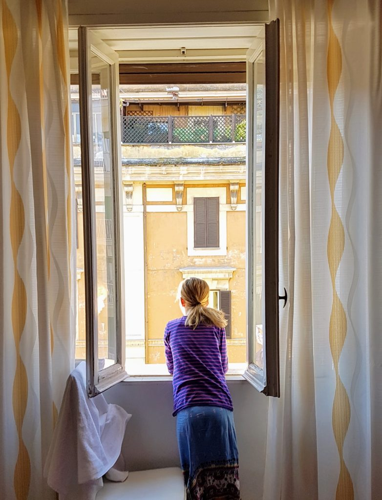 View from our apartment in Rome