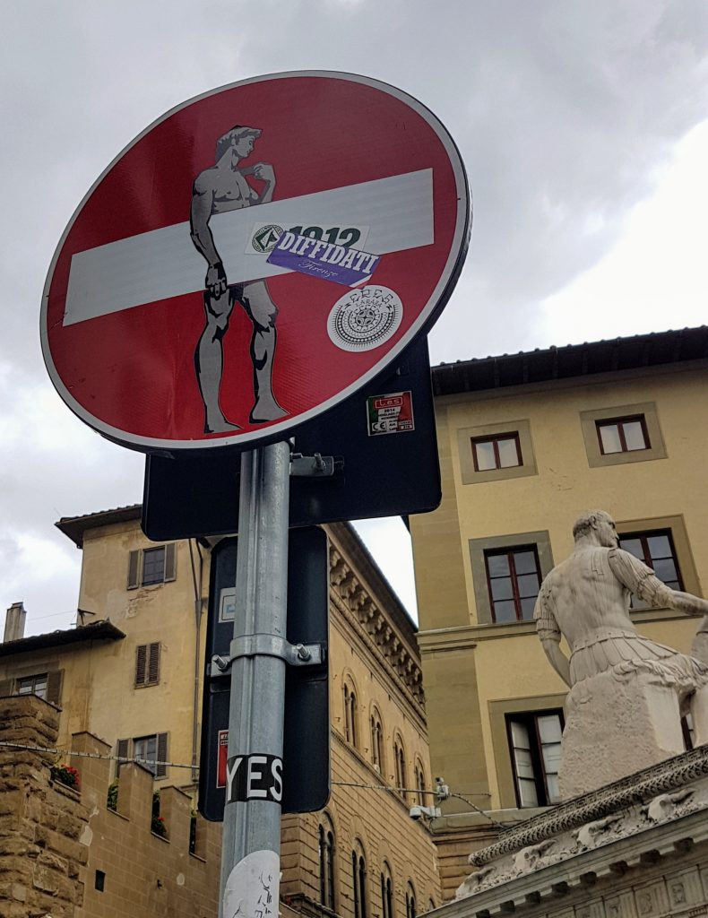 Art on the the street sign