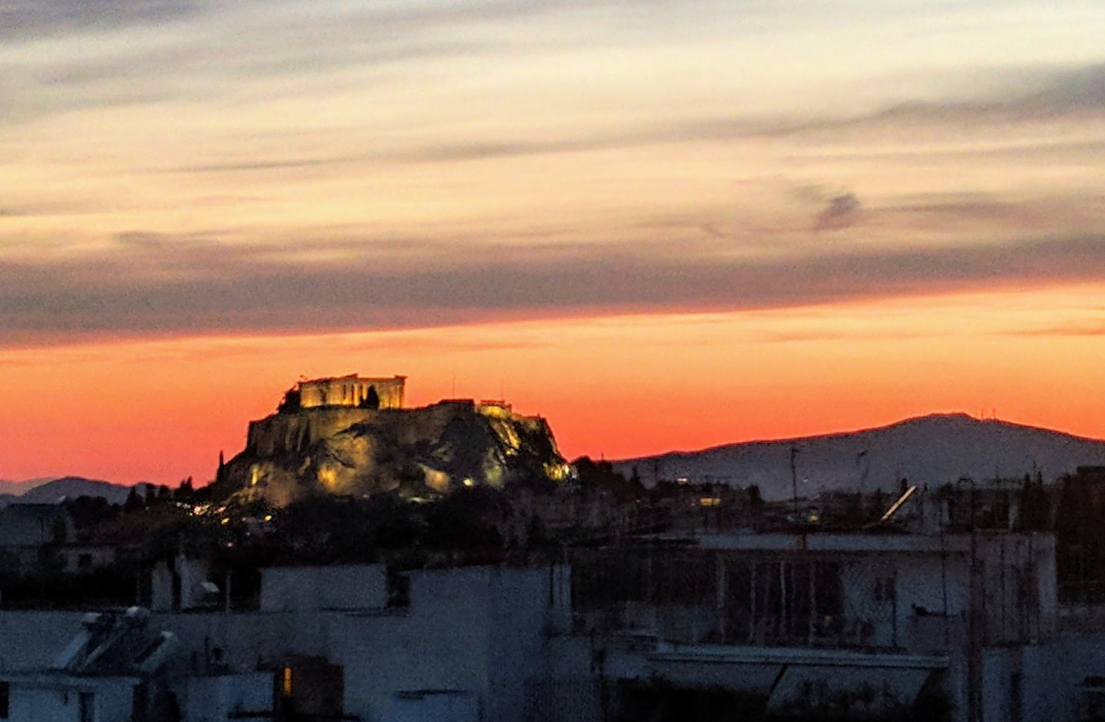 Sunset at the Acropolis in Greece