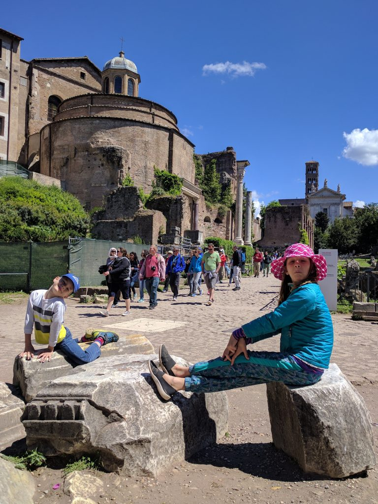 Waiting at the Roman forum