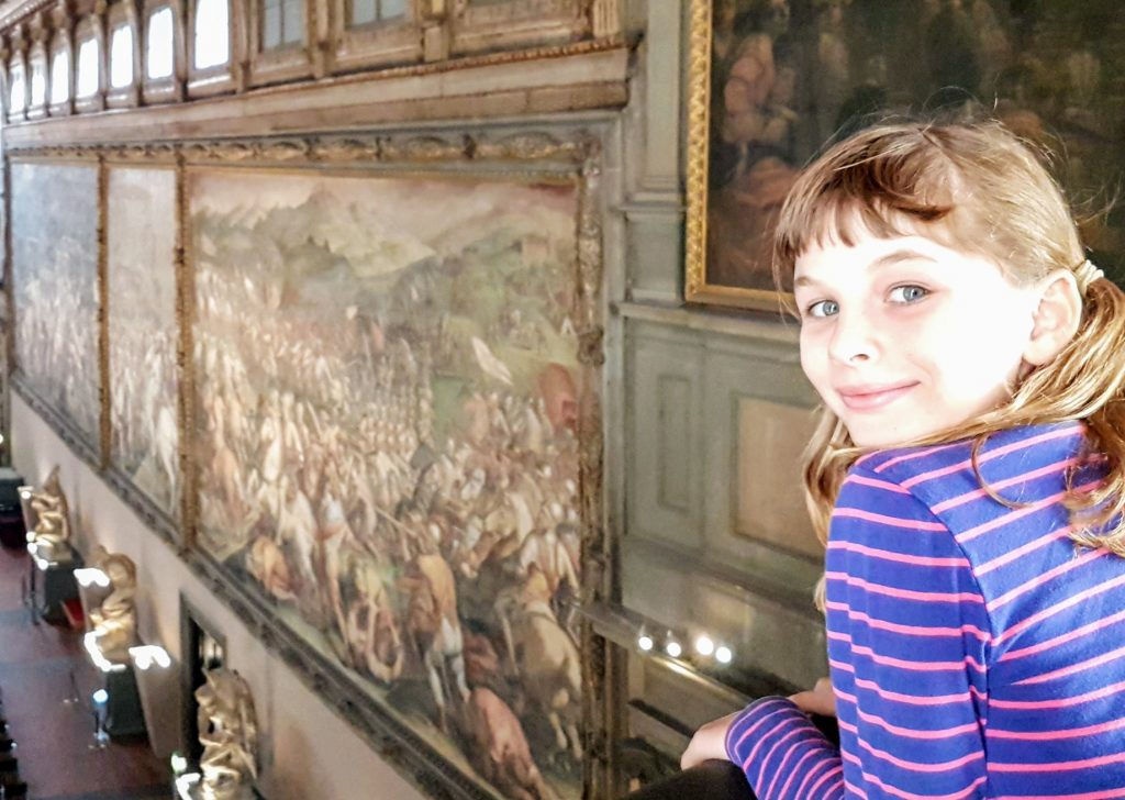 Painting on the wall of Palazzo Vecchio