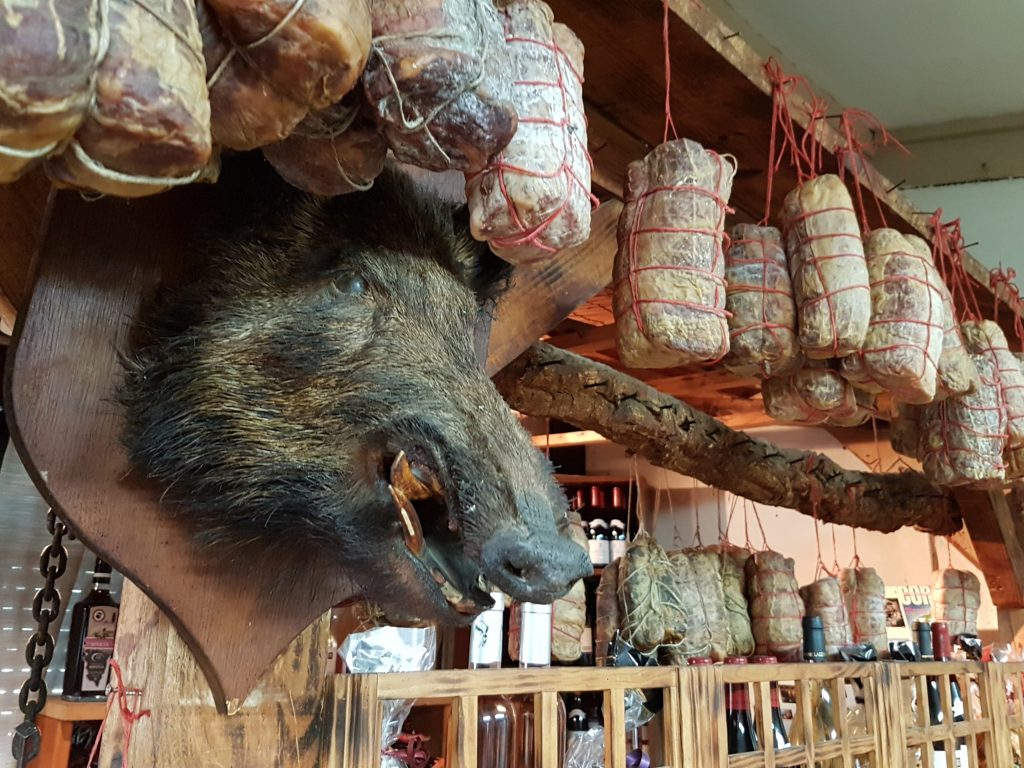 Charcuterie is often made from the pig
