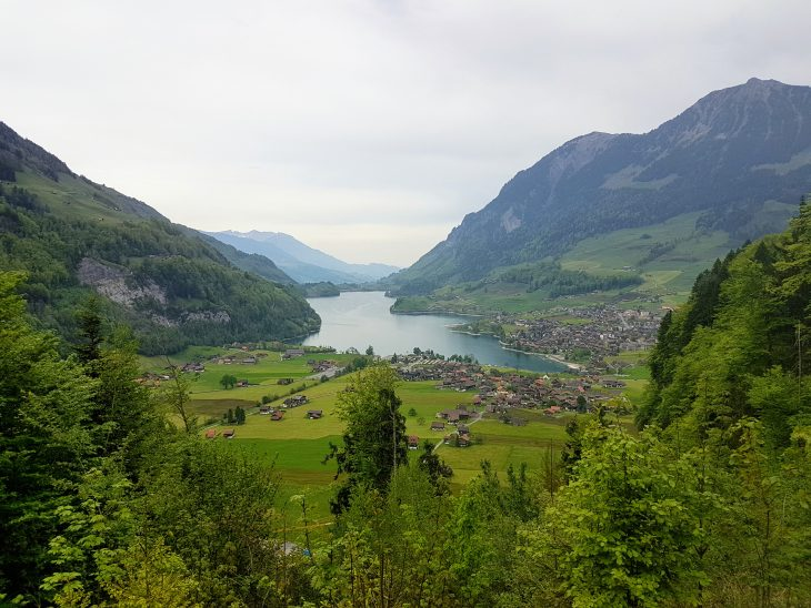 View of a lake in Switzerland