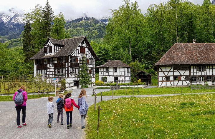 Wandering around the outdoor museum at Ballenberg