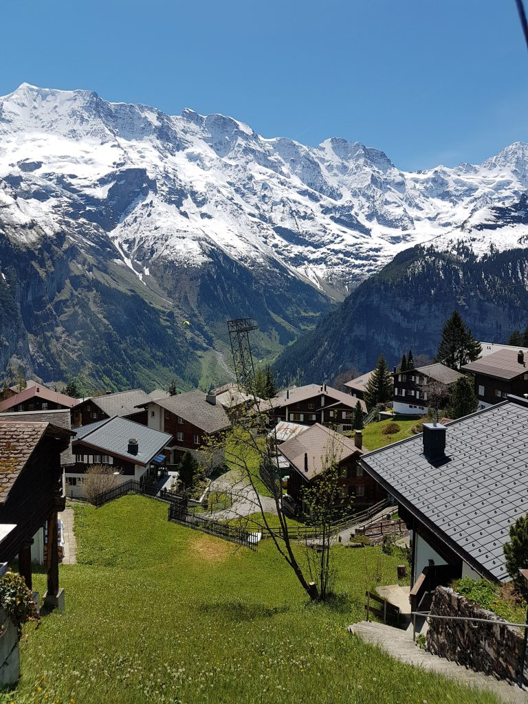 Swiss alpine village