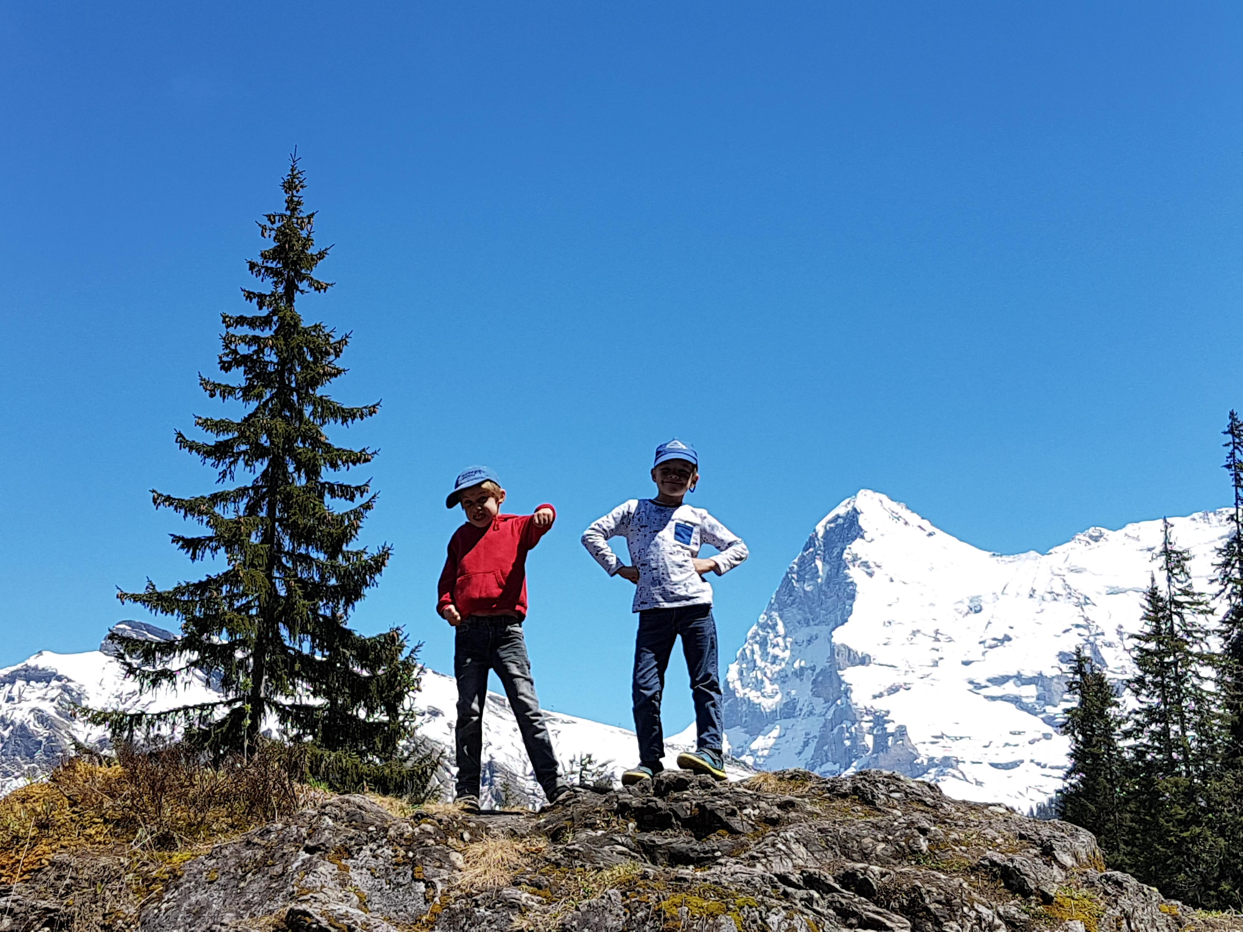 Fun on the alpine trails
