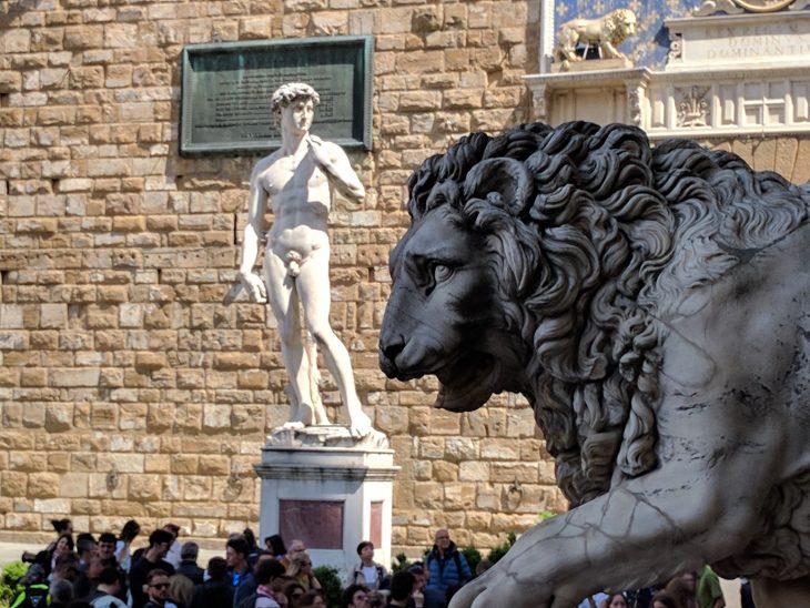 David in the square