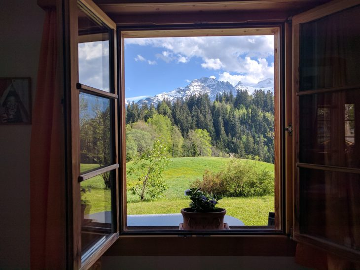 Switzerland view from the window