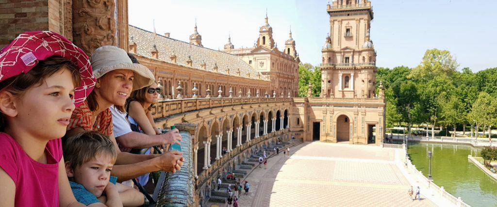 The impressive Plaza de Espana
