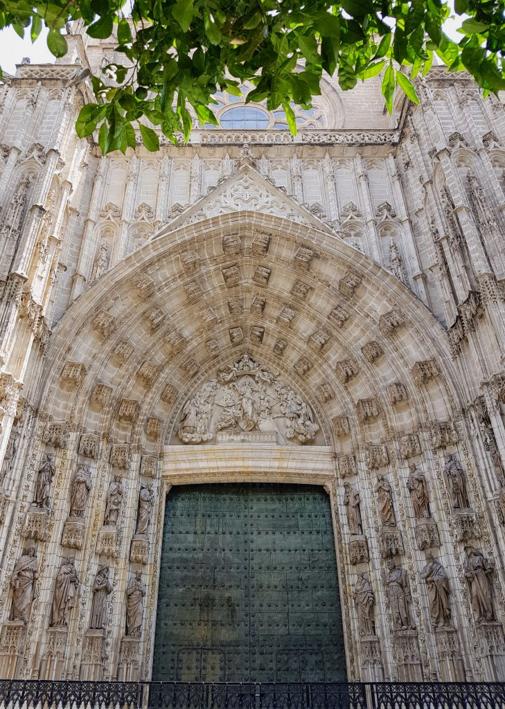 The Seville Cathedral was built over the remains of a mosque