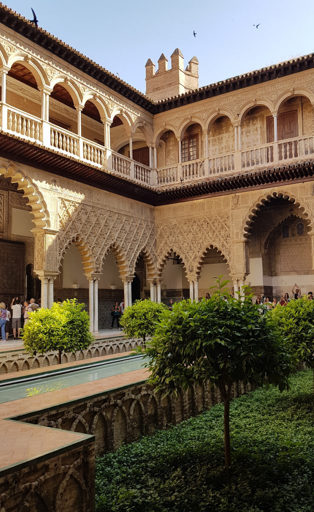 Beautifull courtyard at the Real Alcazar