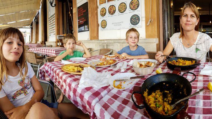 Pizza and paella in Ronda