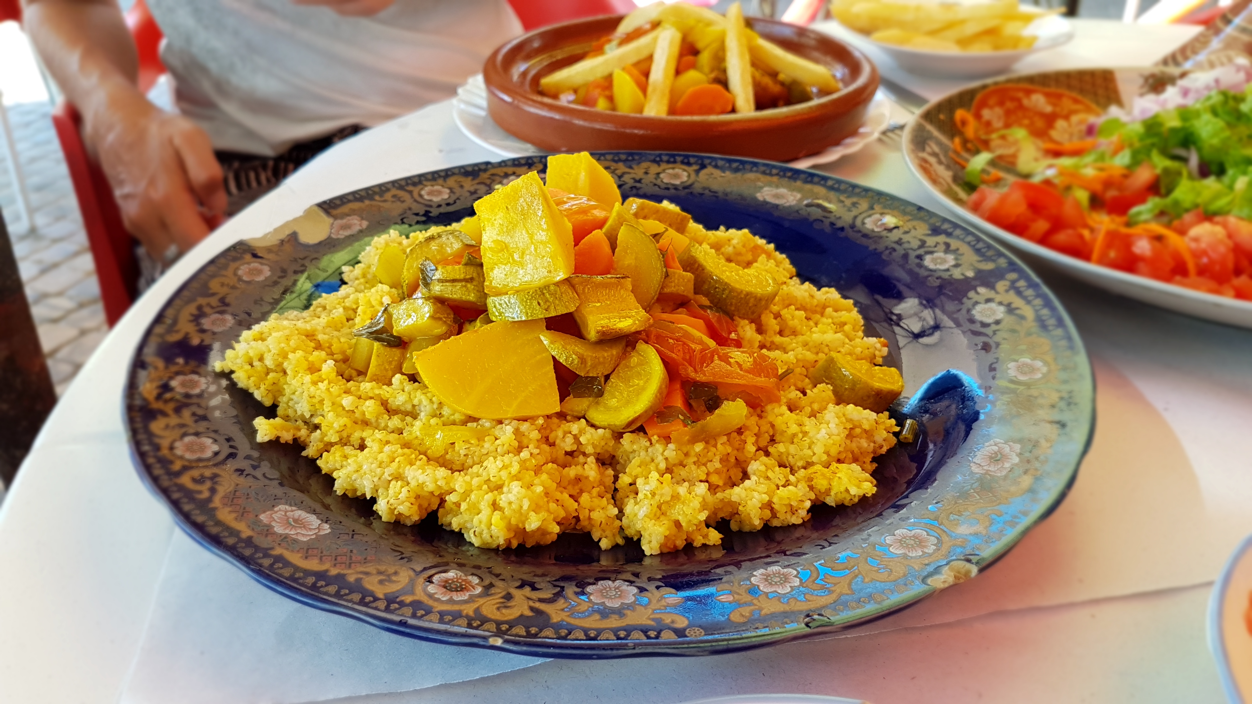 Coucous stacked with vegetables