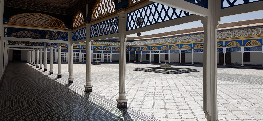 The serene Bahia Palace before the crowds