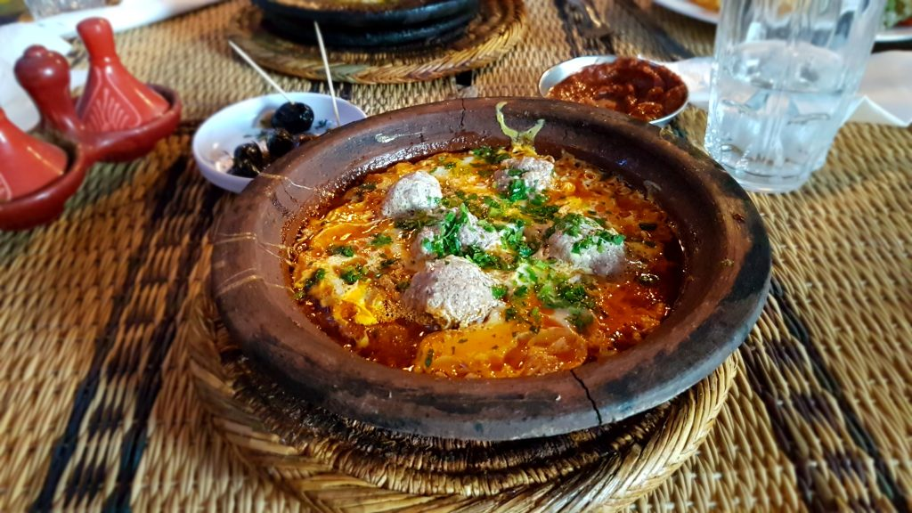 Kefta and egg tagine
