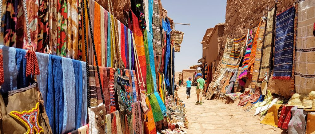 Shops leading to the entrance to the kasbah