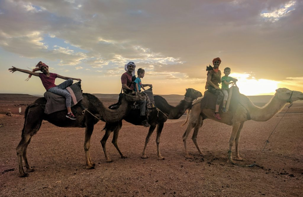 A perfect time to ride in the desert