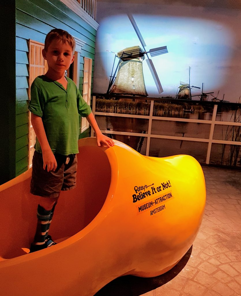 Giant wood clog in the Netherlands
