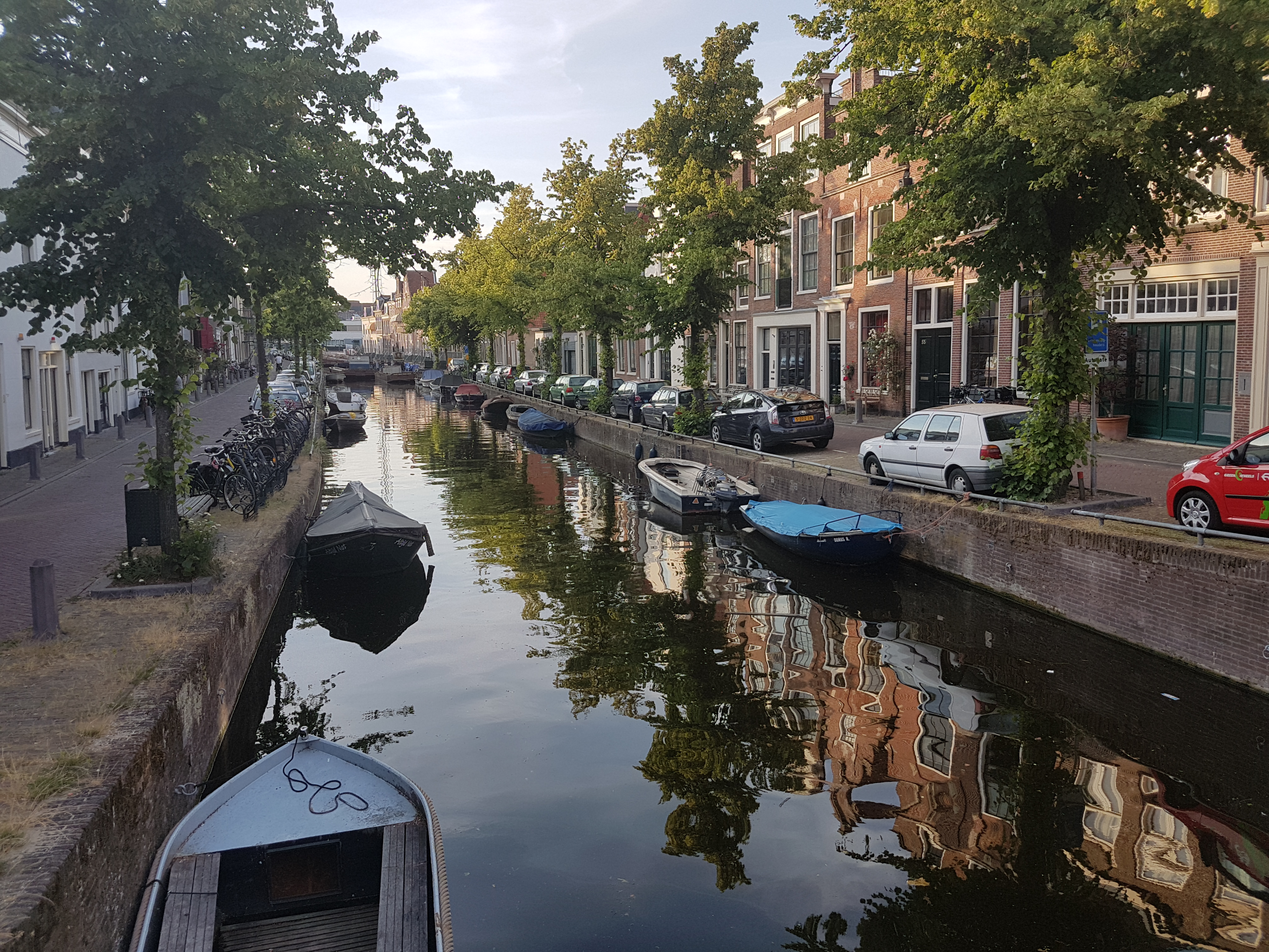 The peaceful canals of Haarlem