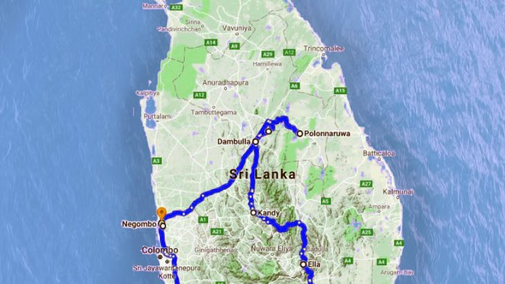 Our Sri Lanka Route