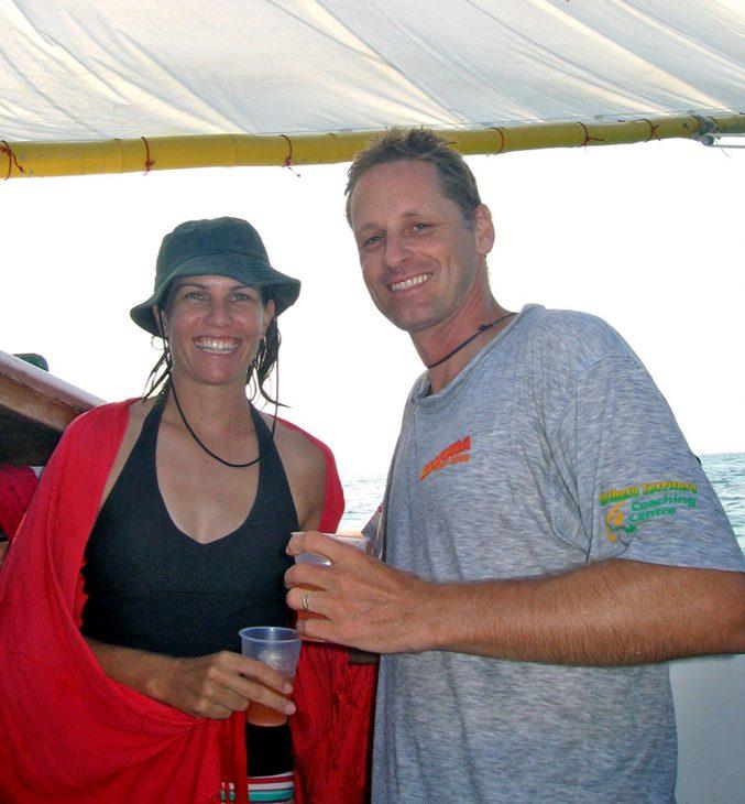 Having a drink in Belize