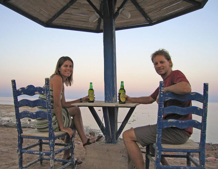 Having a beer in Egypt