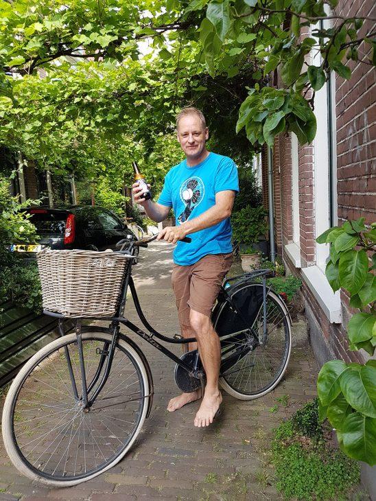 Having a beer in Haarlem The Netherlands