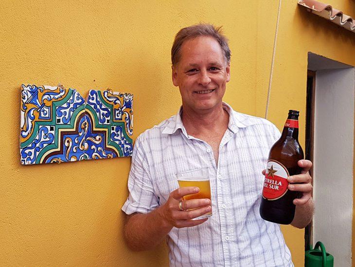 Having a beer in Seville Spain