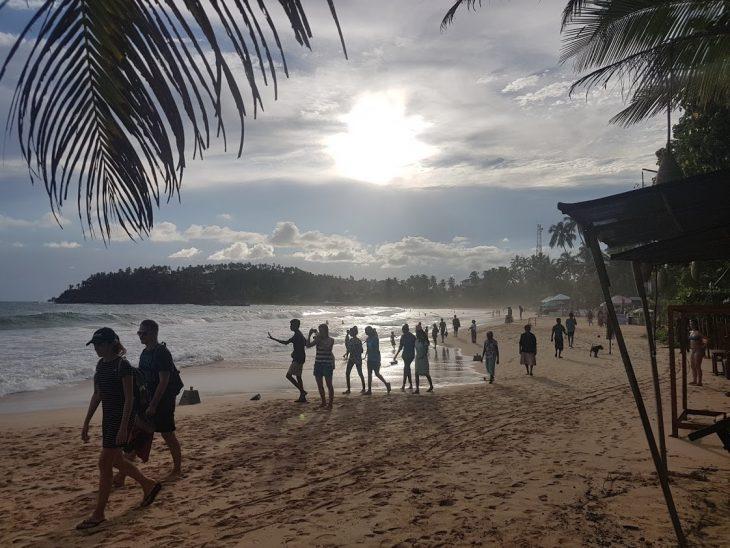 Along the beach in Mirissa, Sri Lanka