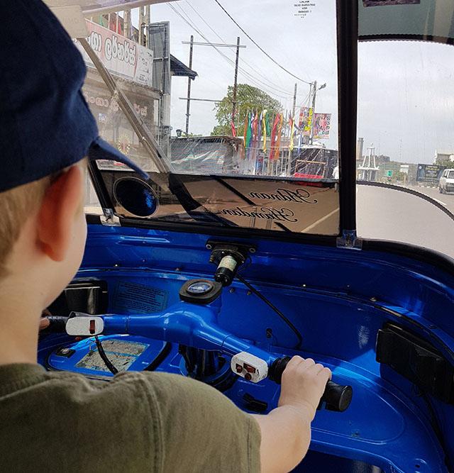 Driving a tuk tuk in Galle Sri Lanka