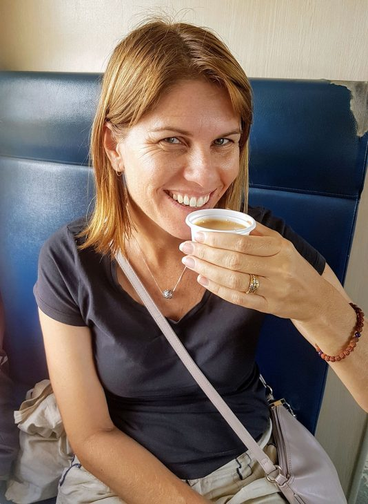 Cup of Chai on a train in Sri Lanka