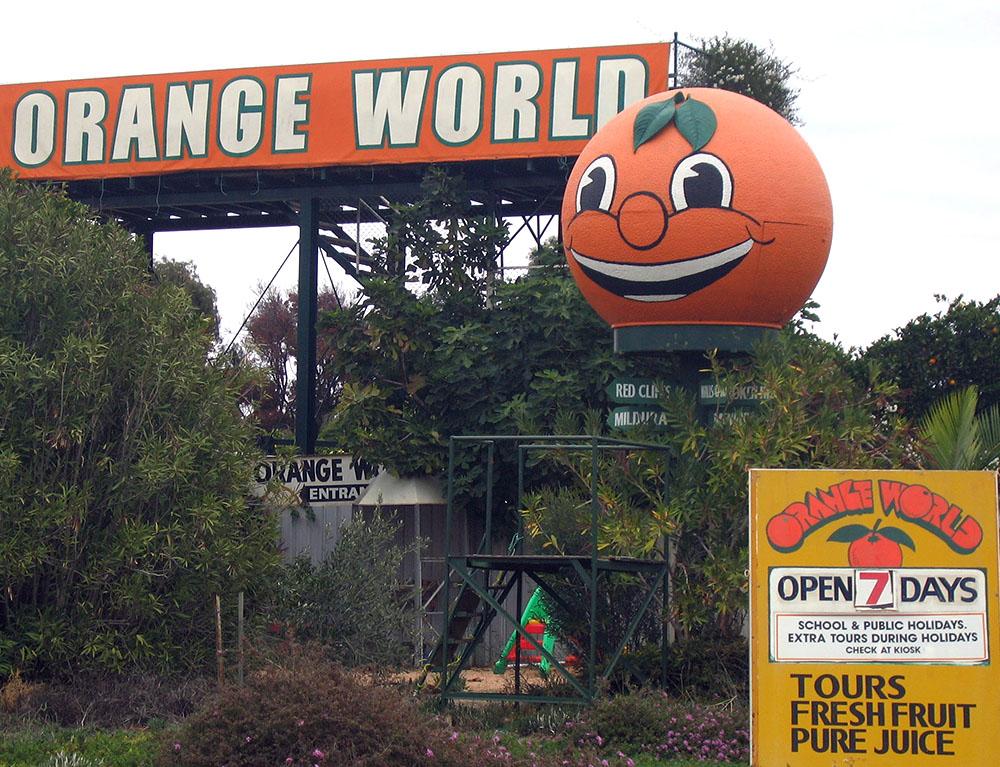 The big orange at Orange World