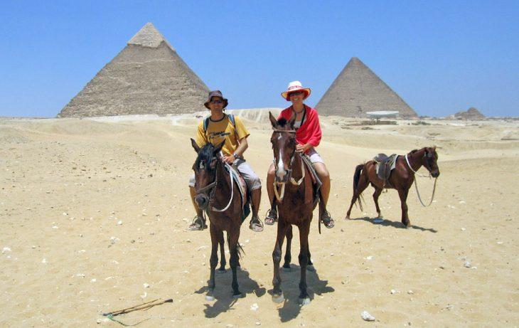 Great pyramids in giza