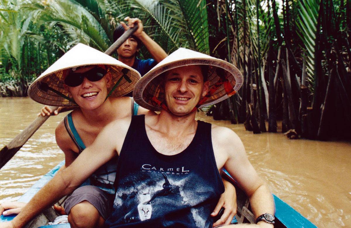 Paddling in the Meekong