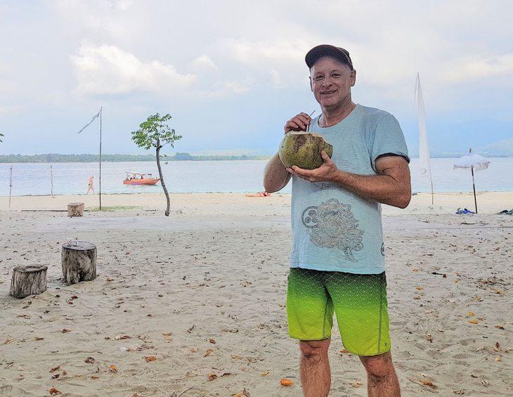 Rob on Gilli Air, Lombok