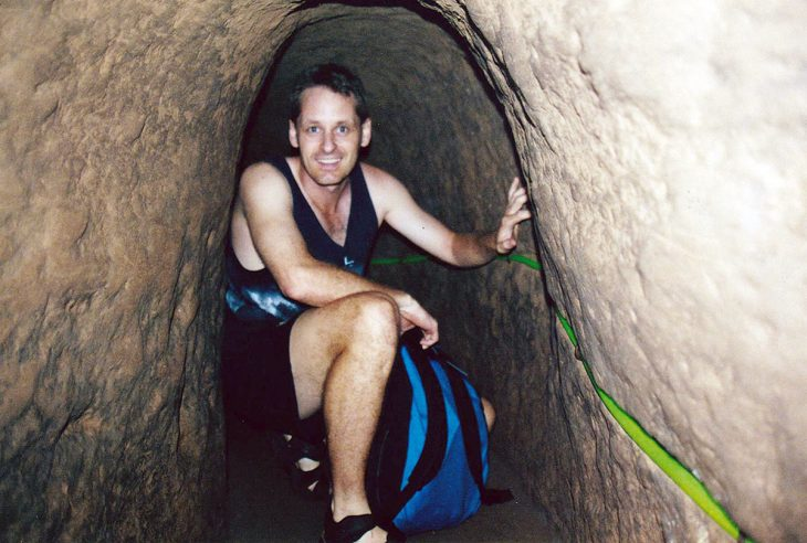 Rob in the tunnel