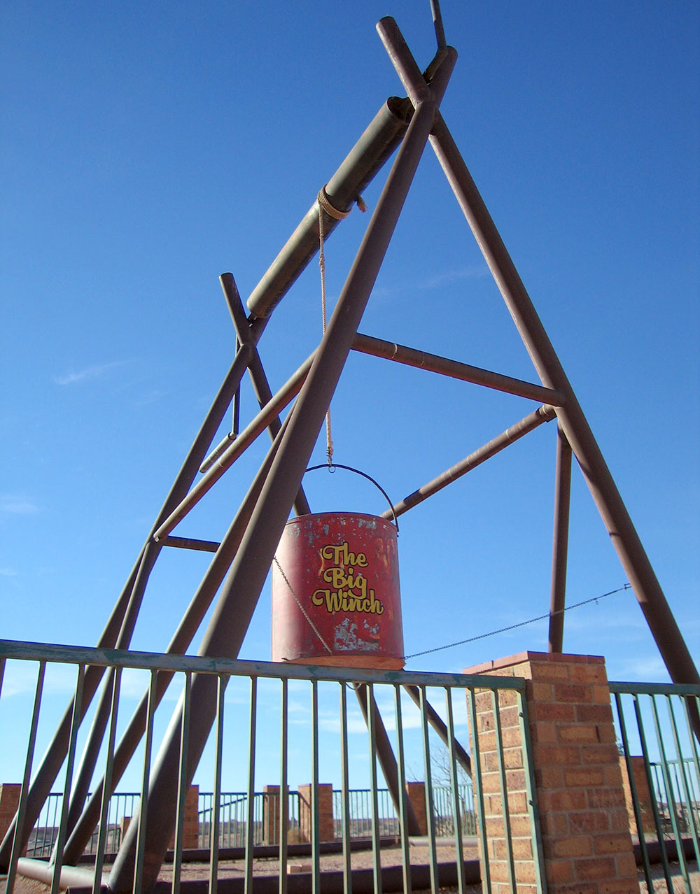 The Big Winch in Coober Pedy