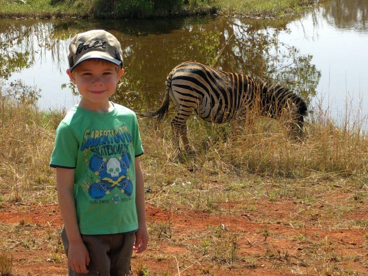 Casper and a Zebra