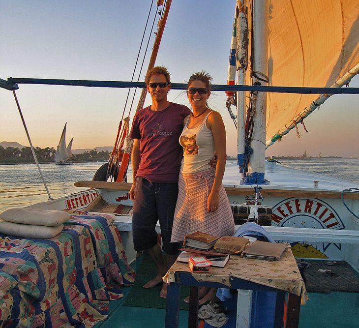 Cruising the nile 2005 sunset